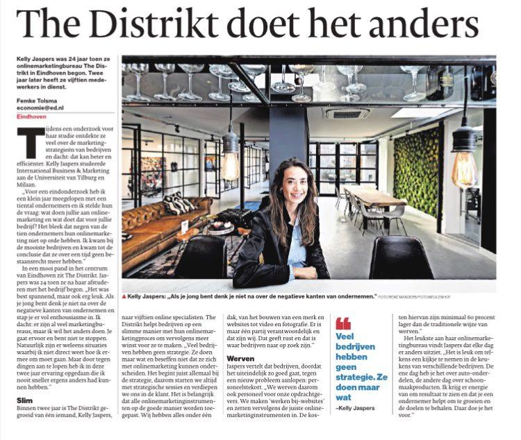 The DISTRIKT persbericht Eindhovens Dagblad